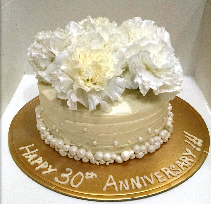 Cake Pictures For Anniversary : 30th Anniversary cake