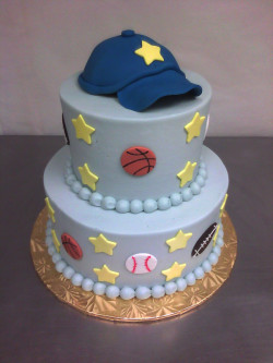 Baby shower cake for boy