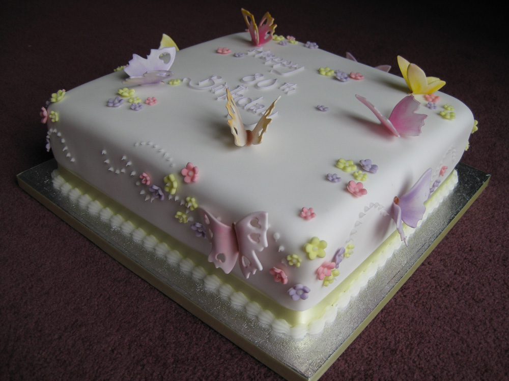 Cake Images Butterfly : Butterfly birthday cake