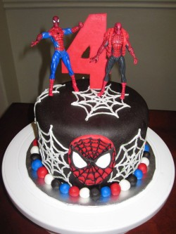 Chocolate Spiderman cake