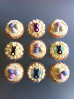 Easter cupcakes buttercream frosting