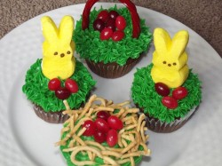 Easter cupcakes – cute bunnies