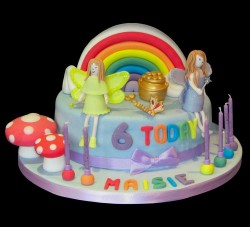 Fairies rainbow cake