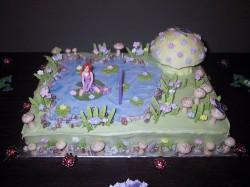 Fairy's garden cake