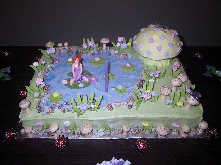 Fairy S Garden Cake