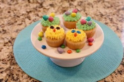 Homemade Easter cupcakes