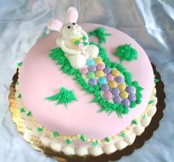 Pink Easter cake