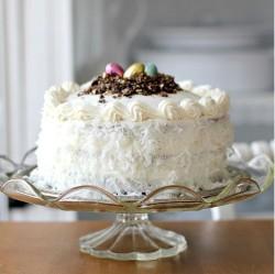 White Easter cake