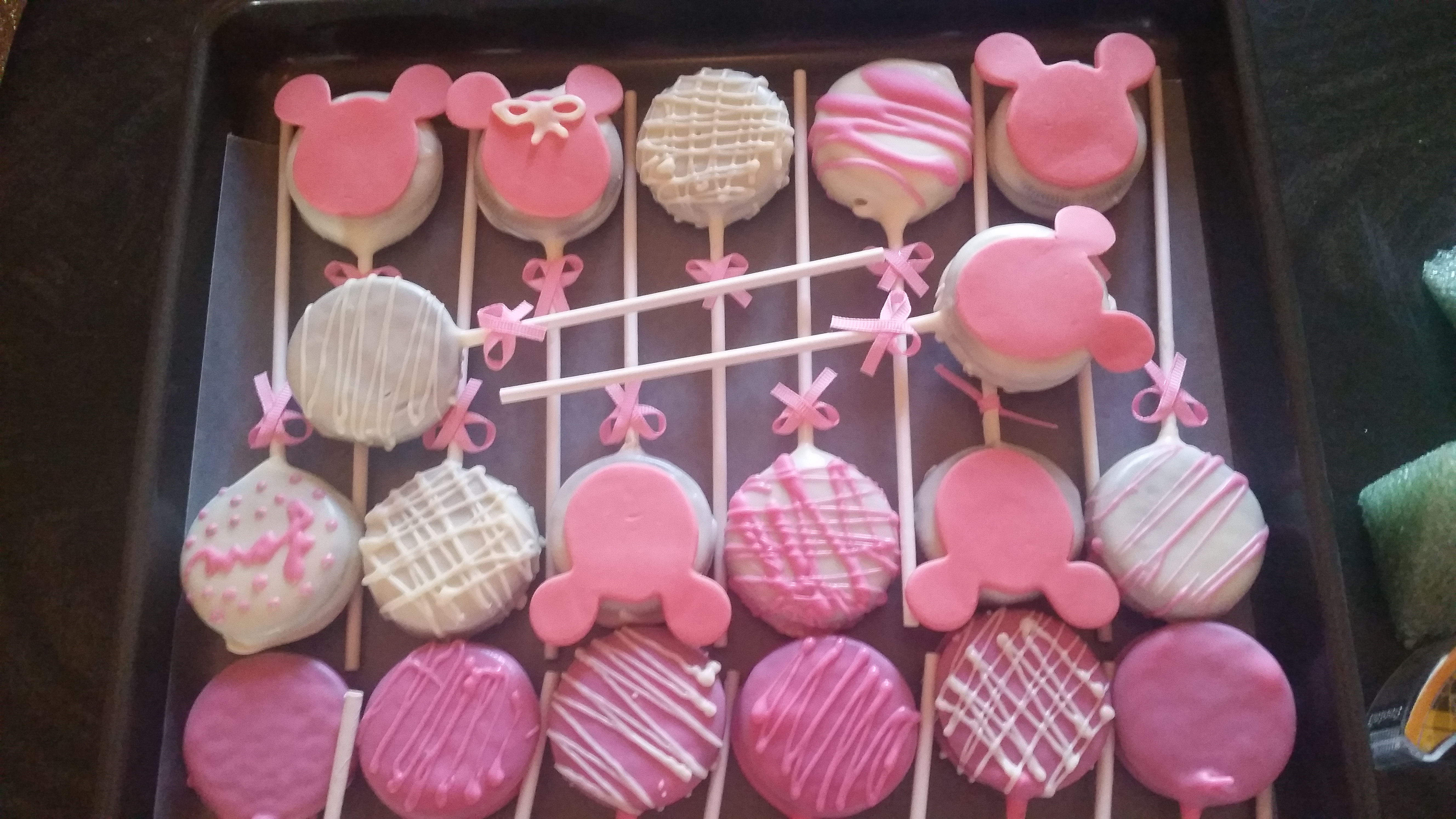 Oreo Pops Cookie Pops Minnie Mouse Cookie Pops Gotcakes