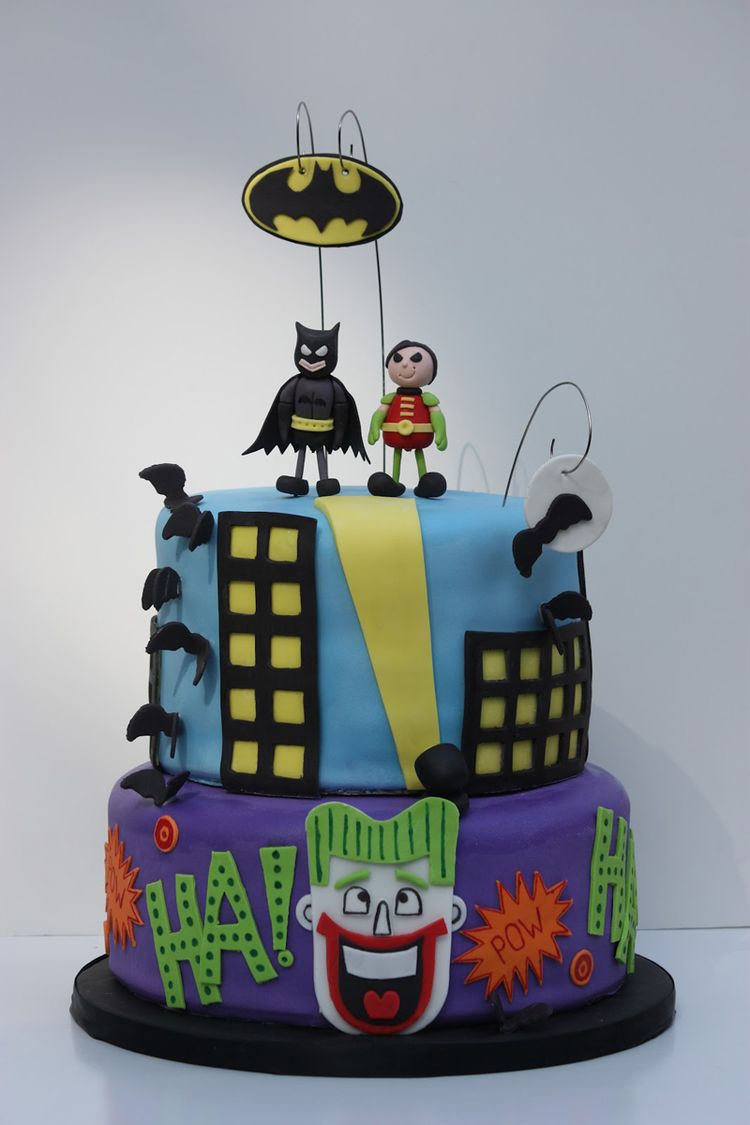 Batman Spiderman Birthday Cake