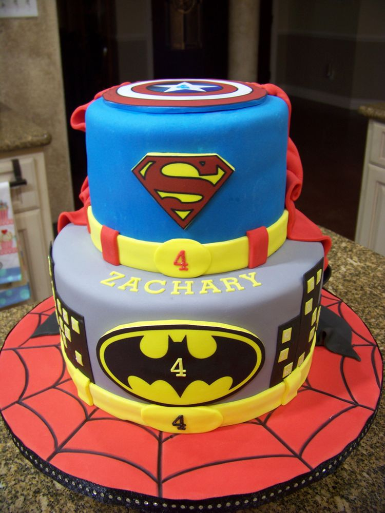Batman And Superman Cake