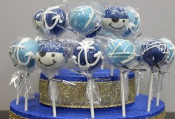 Blue Pirate cake pops