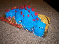 Blue dragon cake