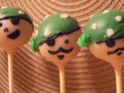 Green Pirate cake pops