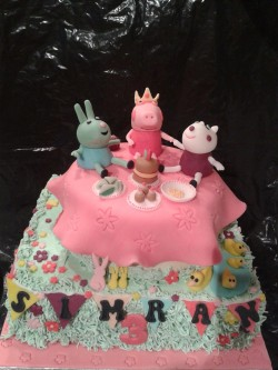 Peppa Pig Cakes decorations