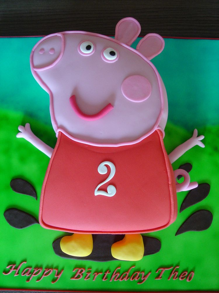 Easy Peppa Pig Birthday Cake Stencil