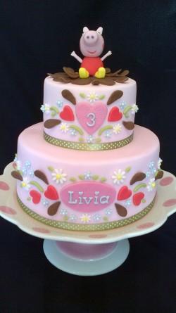 Peppa pig cake for Livia