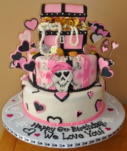 Pirate cake for girl