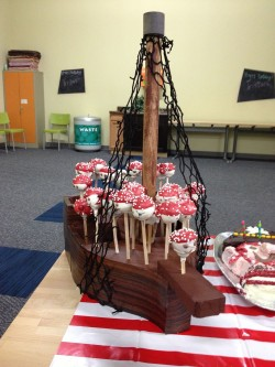 Pirate cake pops – ship