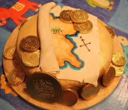 Pirates map cake