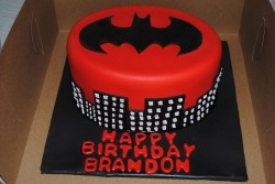 Red Batman cake