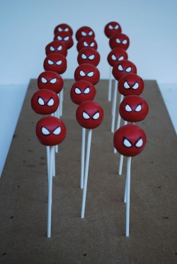 Spider man cake pops