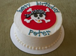 White pirate cake