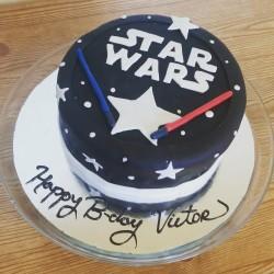 Star wars cake, gotcakes_ want cakes miri bakes fondant birthday cakes