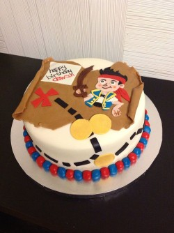 Sweet pirate cake