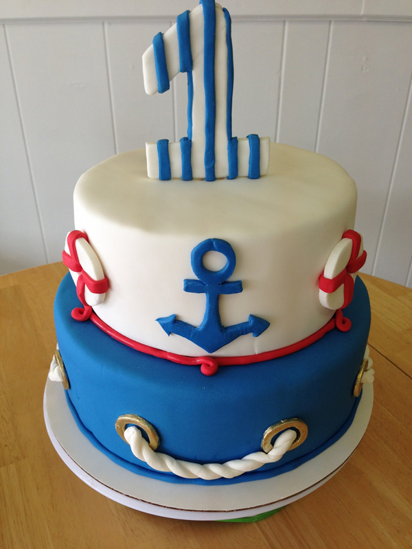 1st Birthday Nautical Cake