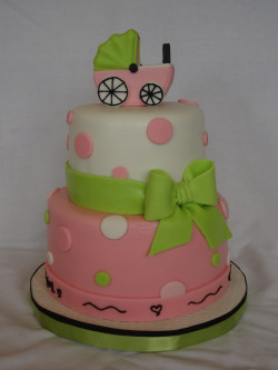 2 tiers baby shower cake