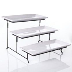 3 Tier Rectangular Serving Platter stand