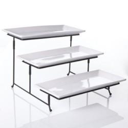 3 Tier Rectangular Serving Platter stand