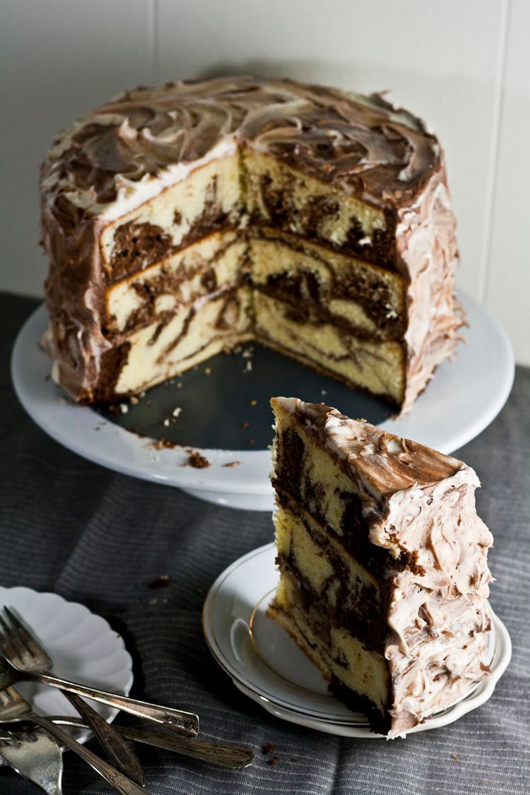 3 Tiers Marble Cake