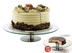 360 Degrees Glass Revolving Cake Stand