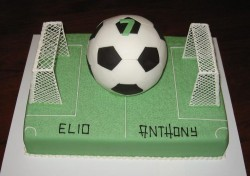 7th birthday football cake