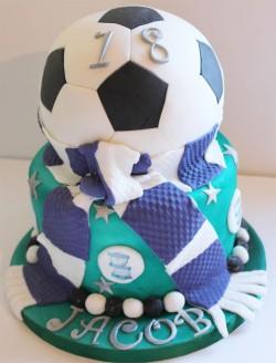 Amazing fondant football cake