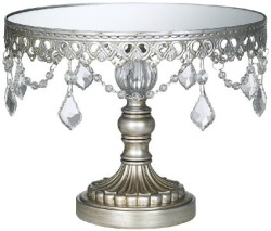Antique Silver Beaded Cake Stand