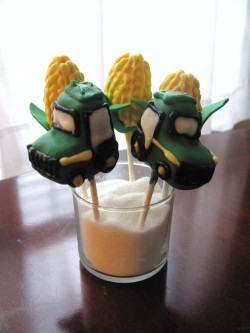 Birthday Cake Pops Tractor
