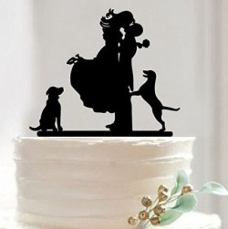 Mr & Mrs Bride and Groom Cake Topper
