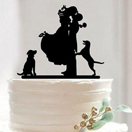 Mr & Mrs Bride and Groom Cake Topper