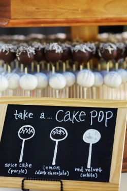 Chocolate Wedding Cake Pops