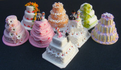 Dolls house miniature wedding cake
