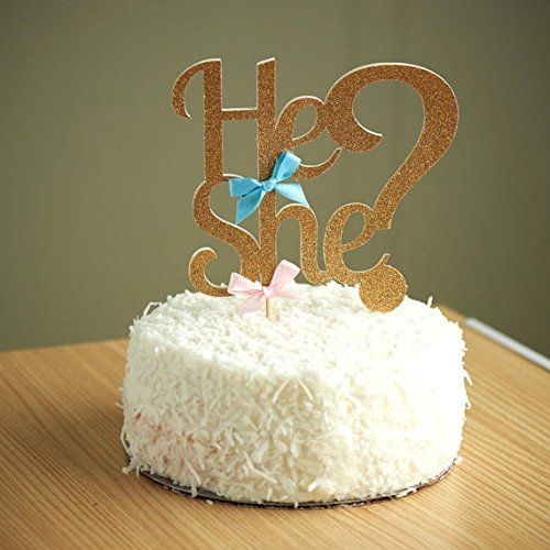 """He or She?"" Cake Topper"