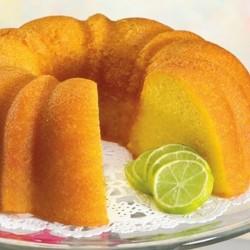 Key lime sponge cake