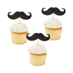 Mustache Food and Cupcake Party Picks