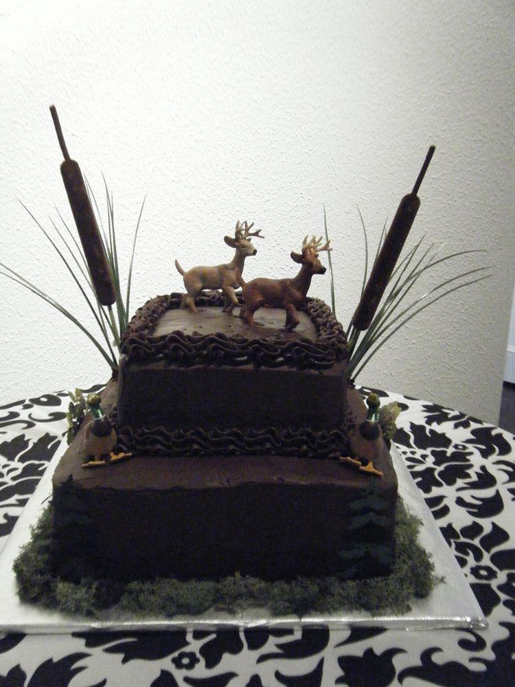 Outdoor grooms cake