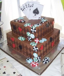 Poker grooms cake