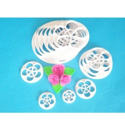 Set of 13 Rose Fondant Cutters