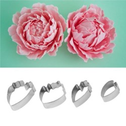 Set of 4 Herbaceous Peony Petral Cutter